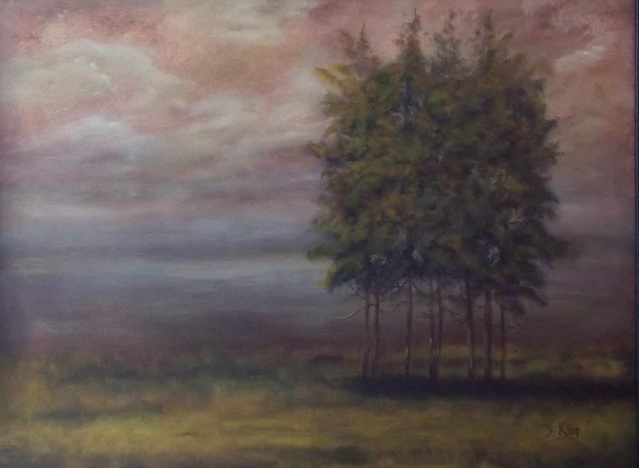 Landscape Painting - Family of Trees by Stephen King