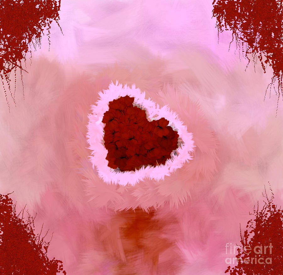 Autism Awareness Digital Art - Family Portrait Red by Holley Jacobs