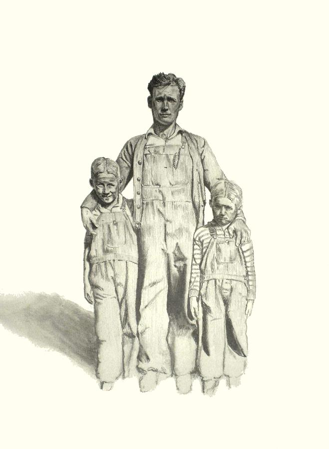 Family Drawing - Family by Todd Spaur