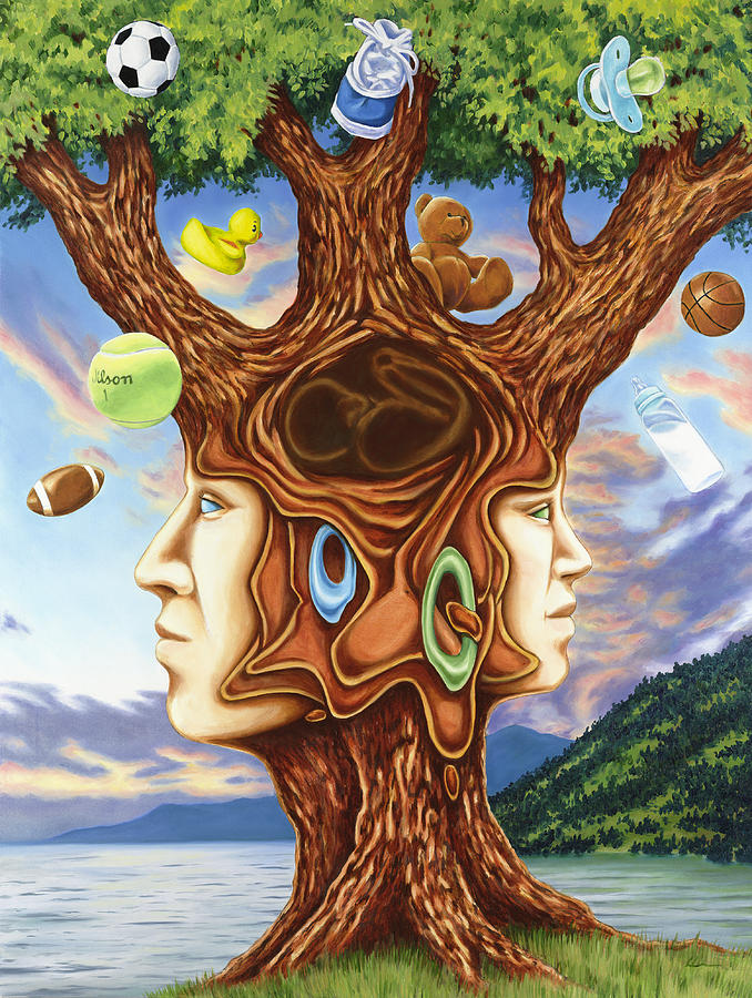 Family Tree Painting By Charles Luna