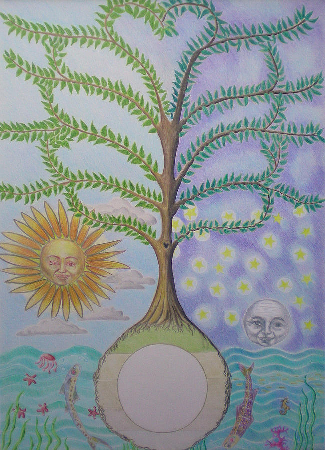 Family Tree Chart Sun Moon And Stars