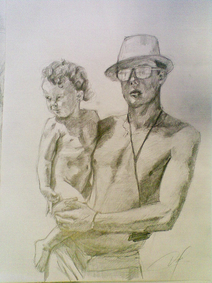 Family Drawing by Vaidos Mihai