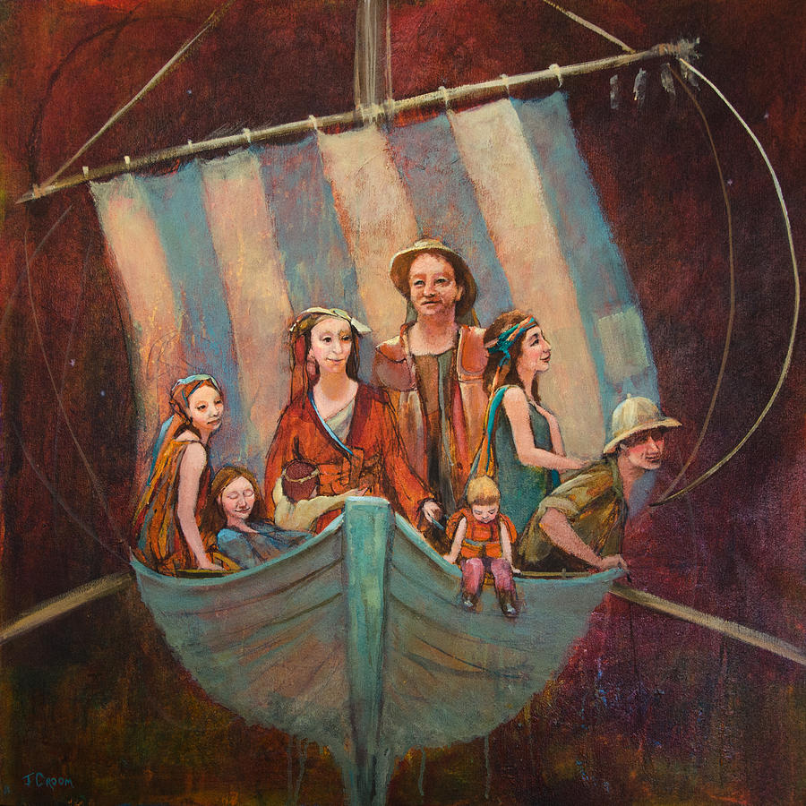 Boat Painting - Family Vessel by Jennifer Croom
