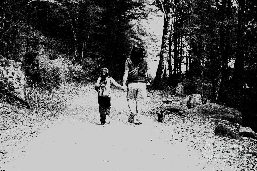 Child Photograph - Family Walk by Stefano Piccini