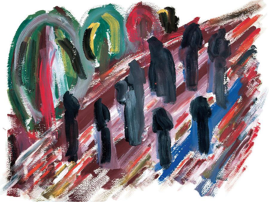 Contemporary Painting - Famine by Bjorn Sjogren