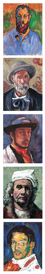 Self Portrait Painting - Famous Artists  by Tom Roderick