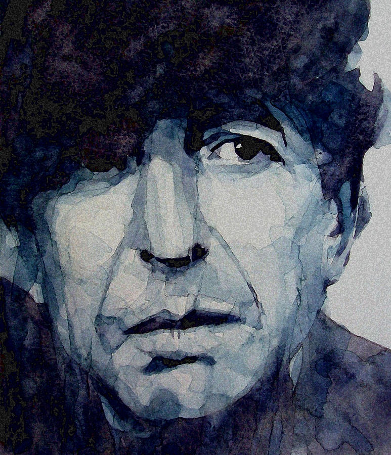 Leonard Cohen Painting - Famous Blue raincoat by Paul Lovering