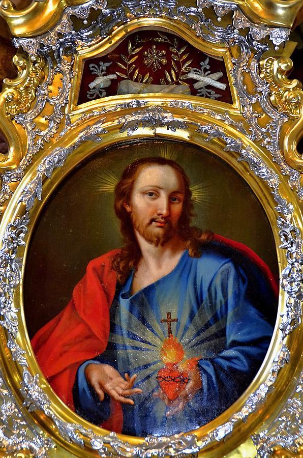 Famous Herz-jesu-bild In Jesuitenkirche In Innsbruck Photograph by ...