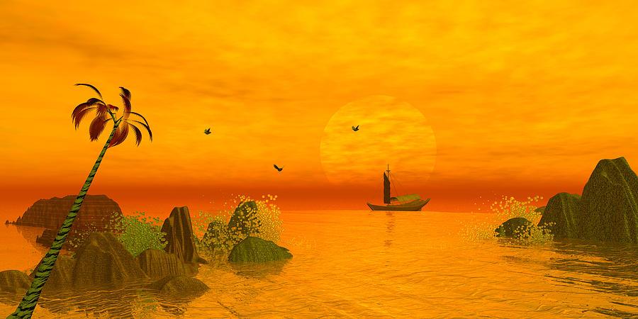 Tree Digital Art - Fanasty Cove by John Junek