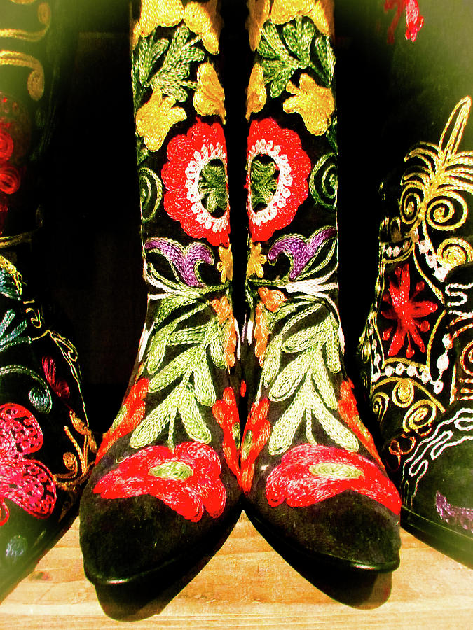 Abstract Photograph - Fancy Boots by Angela Wright