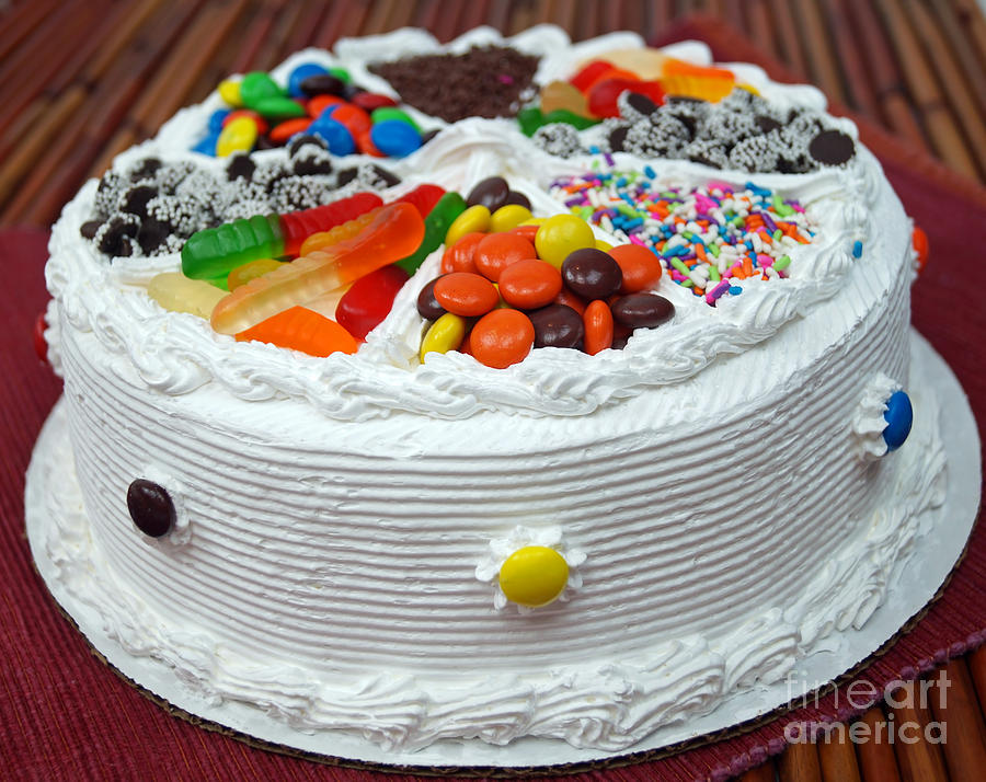 Stupendous Candy Cake Photograph By Andrea Rea Funny Birthday Cards Online Bapapcheapnameinfo