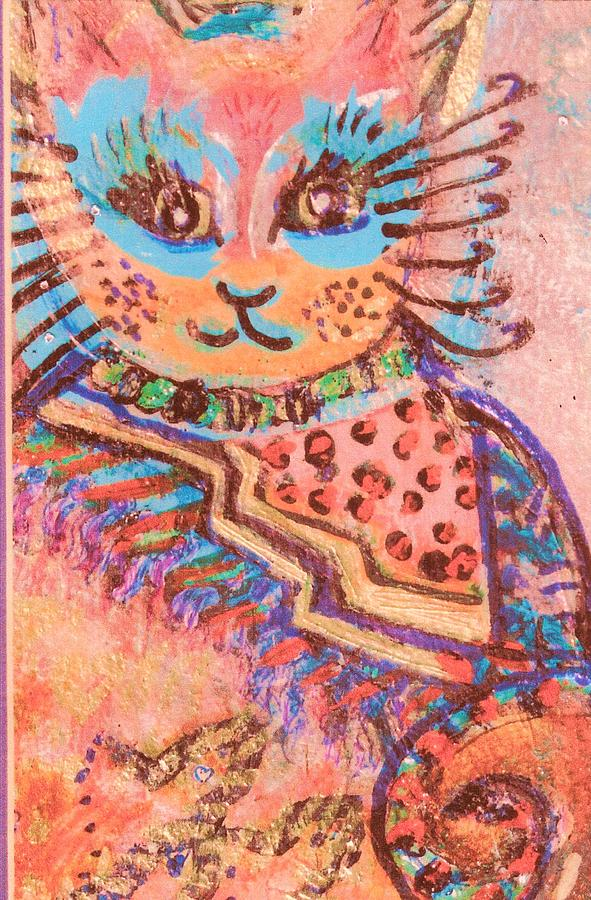 Cat Painting - Fancy Cat by Anne-Elizabeth Whiteway