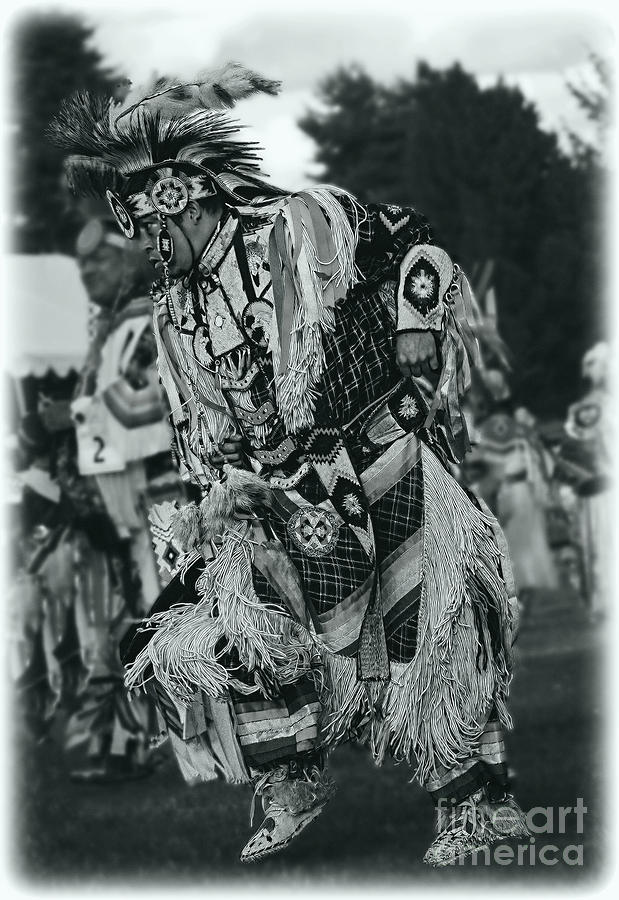 Native American Photograph - Fancy Dancer In Silver Screen by Scarlett Images Photography