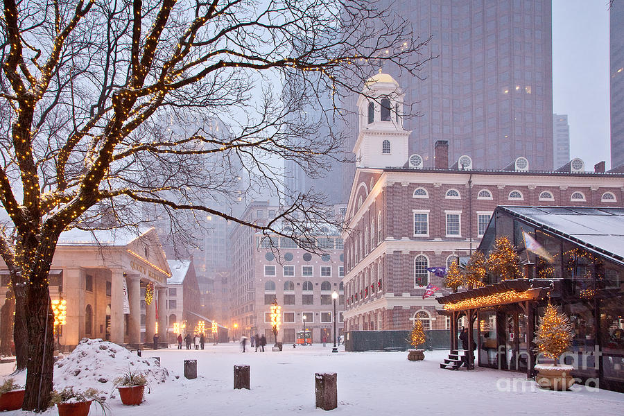 Architecture Photograph - Faneuil Hall In Snow by Susan Cole Kelly