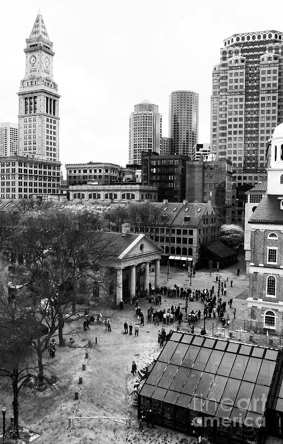Faneuil Hall Photograph - Faneuil Hall Marketplace by John Rizzuto