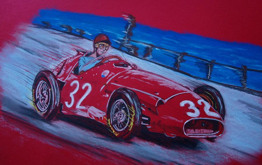 Fangio Painting - Fangio At Monaco 57 by Juan Mendez