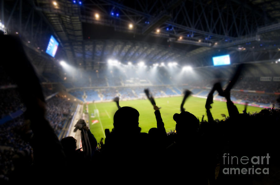 Fans Photograph - Fans Celebrating Goal by Michal Bednarek