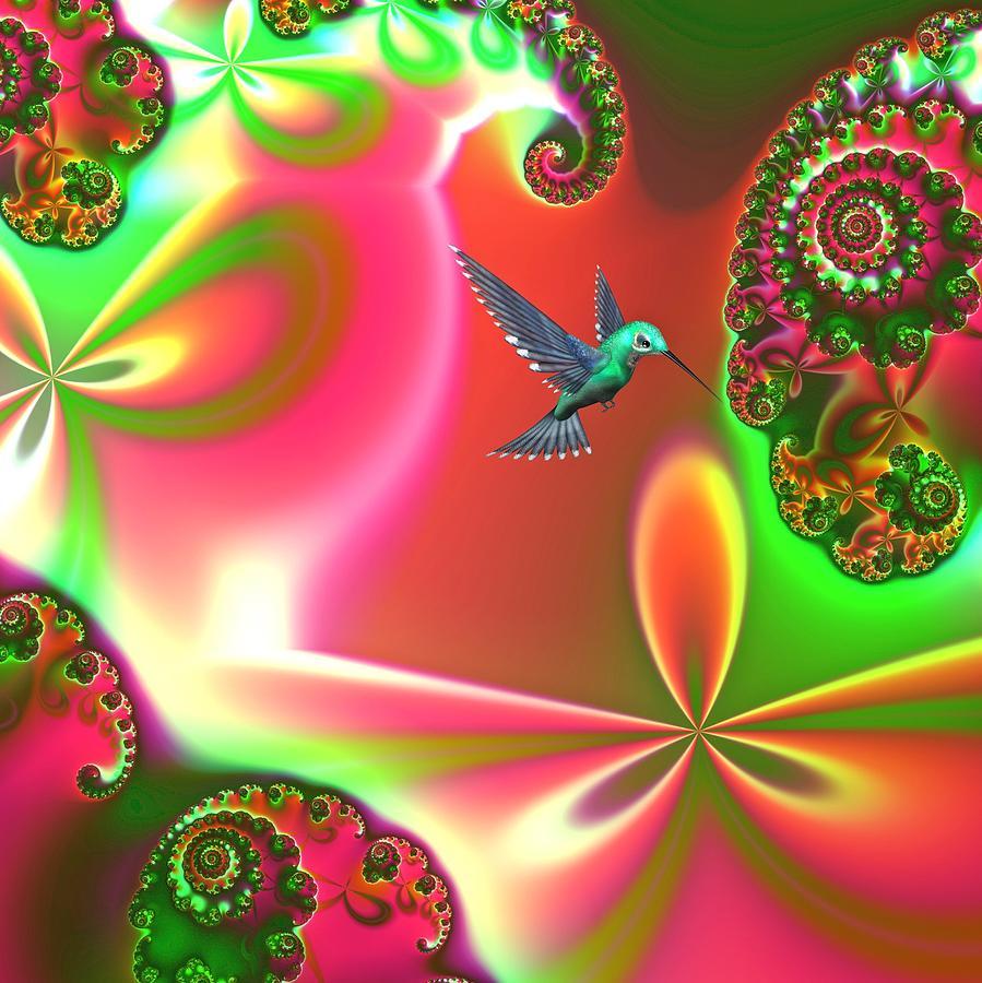 Hummingbirds Digital Art - Fantasia by Sharon Lisa Clarke