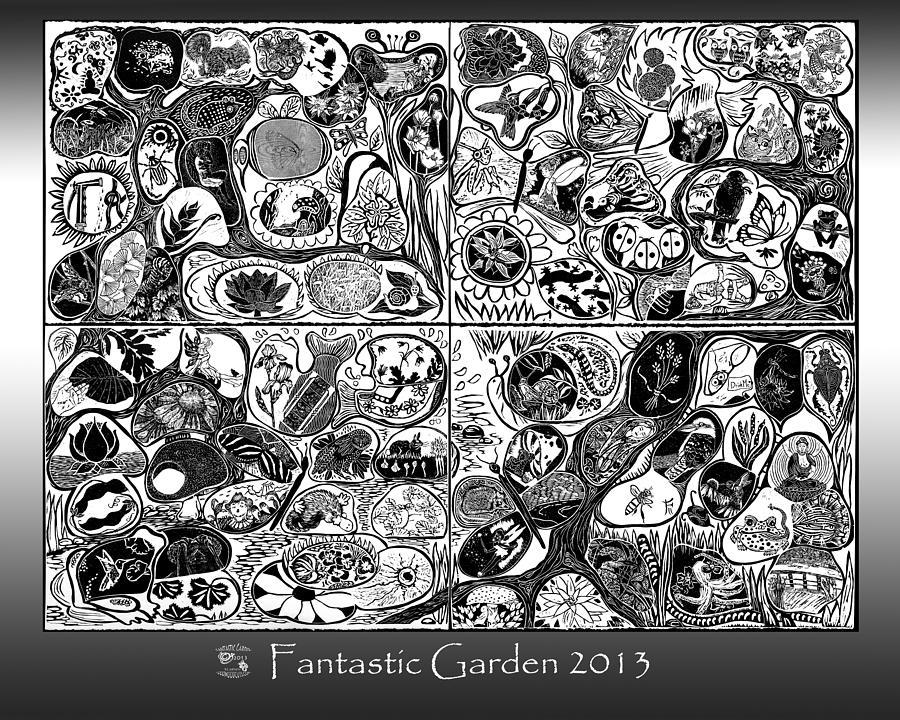 Fantastic Garden Relief - Fantastic Garden 2013 by Maria Arango Diener