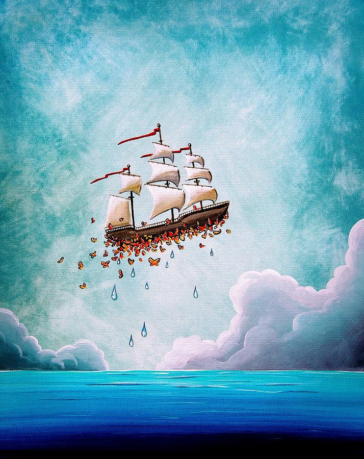 Ship Painting - Fantastic Voyage by Cindy Thornton