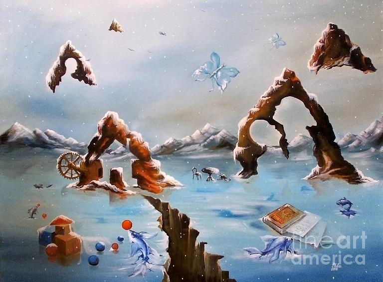 Landscape Painting - Fantastic Winter Lansdcape by Stan Florin