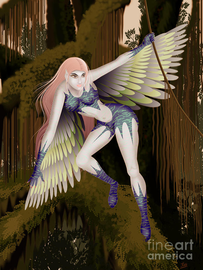 Fantasy Digital Art - Fantasy Fairy2 by Kriss Orayan