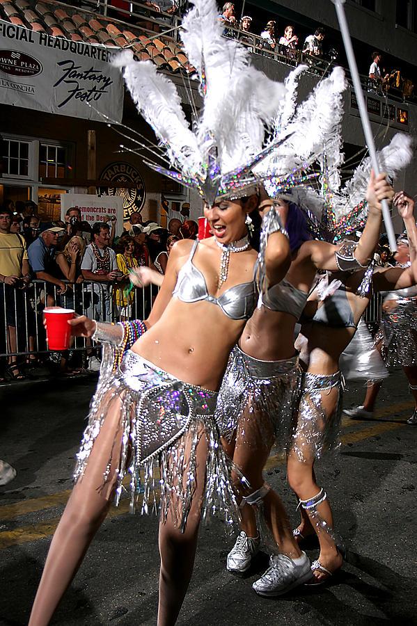 Fantasy Fest Dancers In Key West Photograph