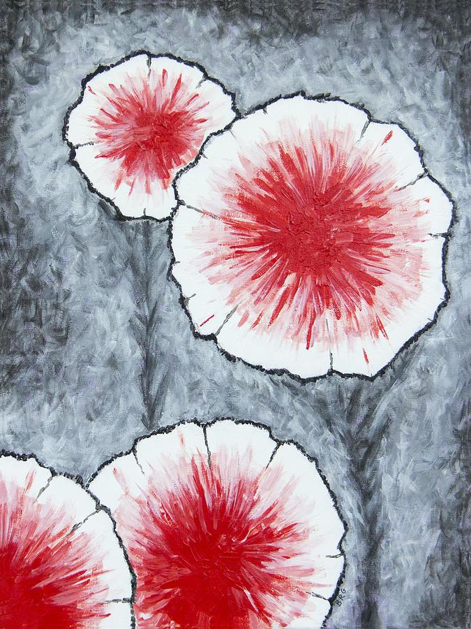 Fantasy Flowers In Red No 2 by Ben Gertsberg