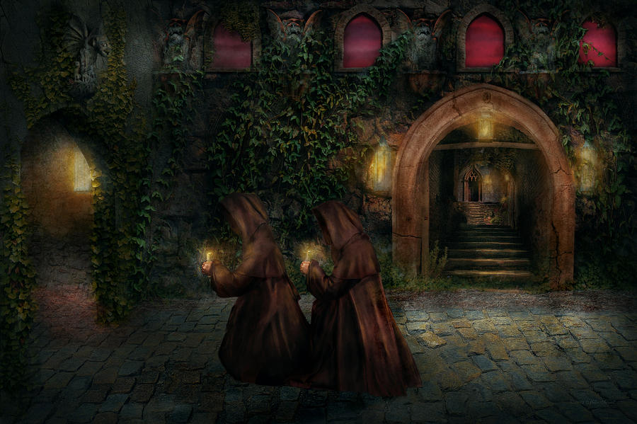 Witch Photograph - Fantasy - Into The Night by Mike Savad