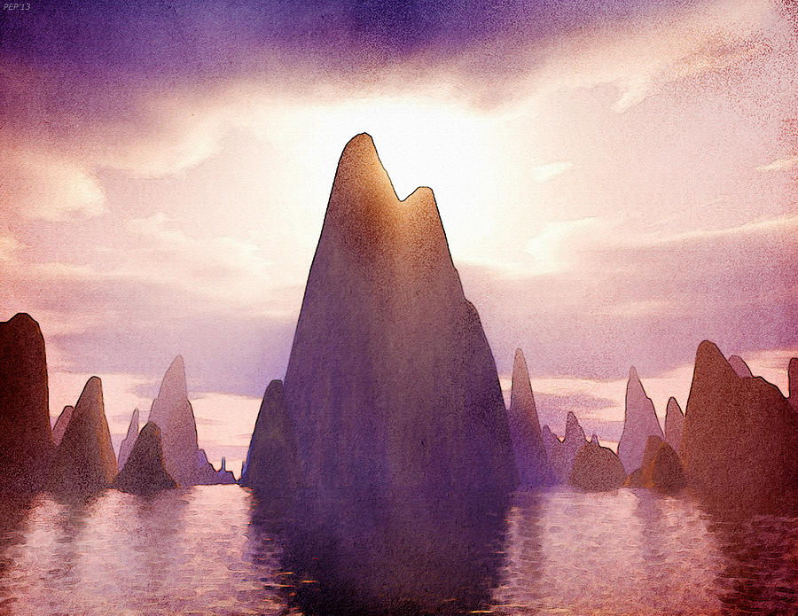 Island Digital Art - Fantasy Islands by Phil Perkins