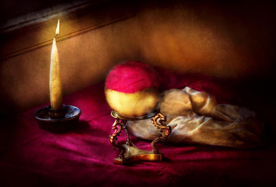 Savad Photograph - Fantasy - The Crystal Ball by Mike Savad