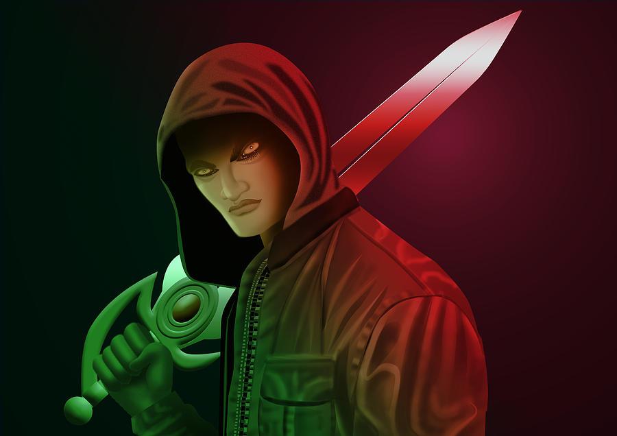 Fantasy Digital Art - Fantasy Vampire by Kriss Orayan