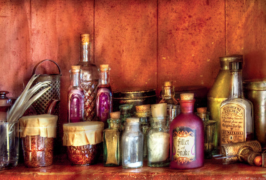 Savad Photograph - Fantasy - Wizards Ingredients by Mike Savad