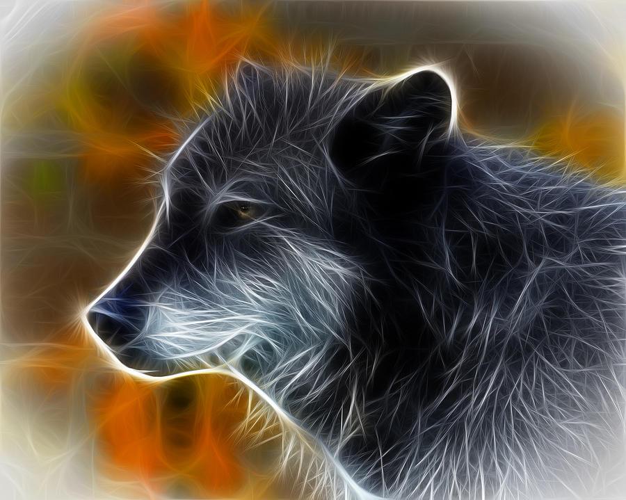 Fantasy Wolf Photograph By Steve McKinzie