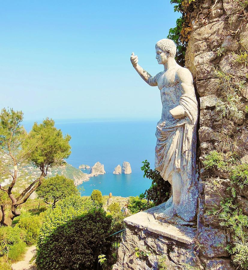 Capri Photograph - Faraglioni Rocks From Mt Solaro Capri by Marilyn Dunlap