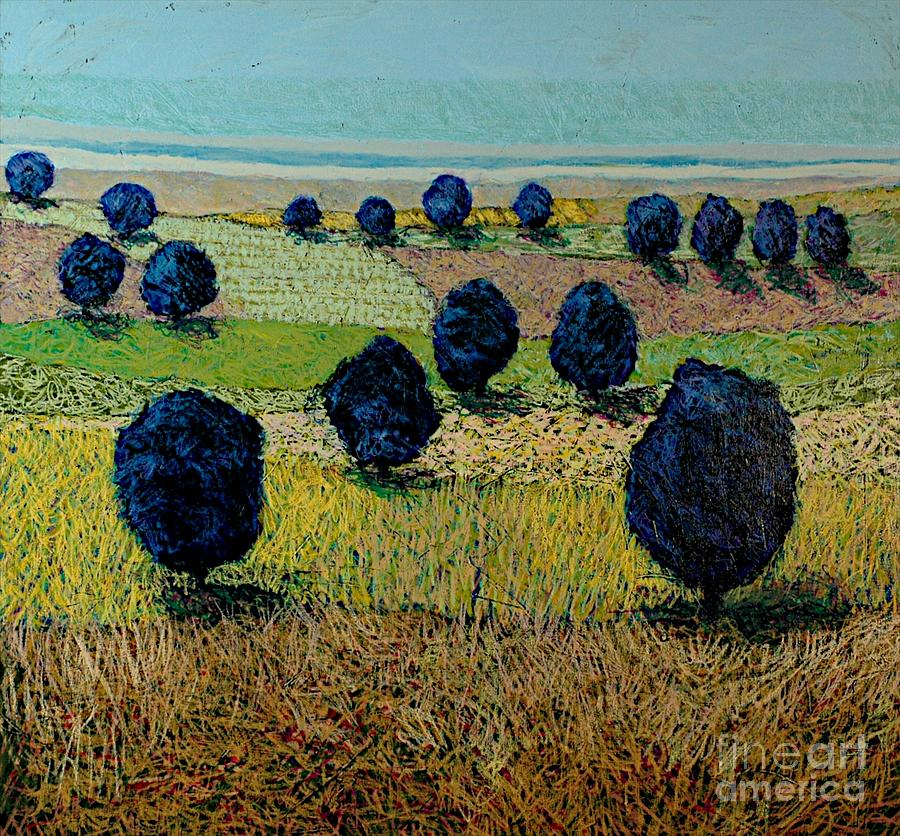 Landscape Painting - Faraway Field by Allan P Friedlander