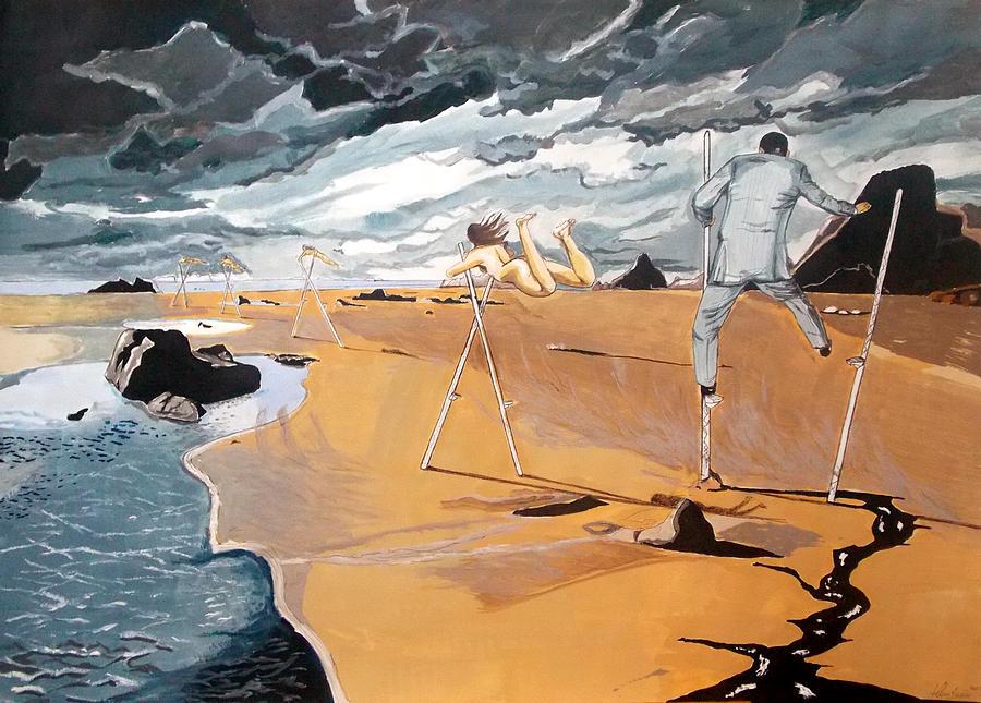 Painting Painting - Faraway Lejanias by Lazaro Hurtado