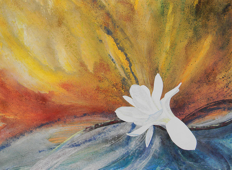 Magnolia Painting - Farewell by Adel Nemeth