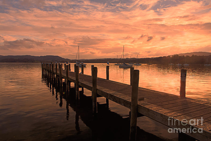 England Photograph - Farewell Windermere by Pete Reynolds