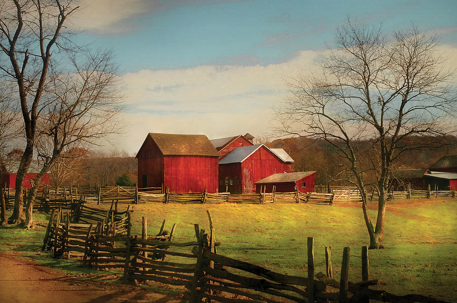 Savad Photograph - Farm - Barn - Just Up The Path by Mike Savad