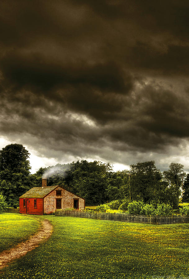 Savad Photograph - Farm - Barn - Storms A Comin by Mike Savad