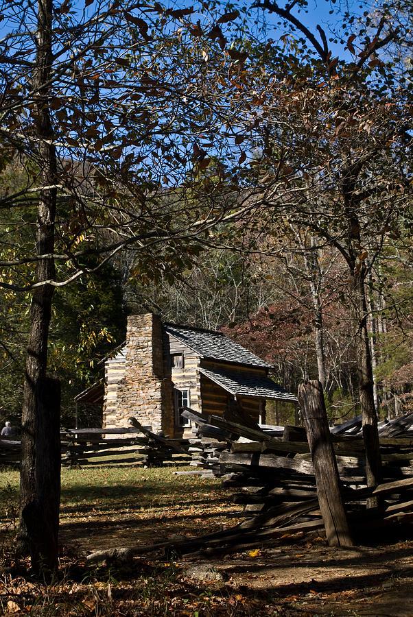 Farm Photograph - Farm Cabin Cades Cove Tennessee by Douglas Barnett