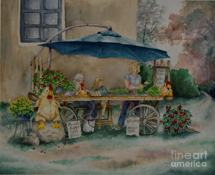 Farmers Market Painting - Farm Fresh by Kathleen Keller