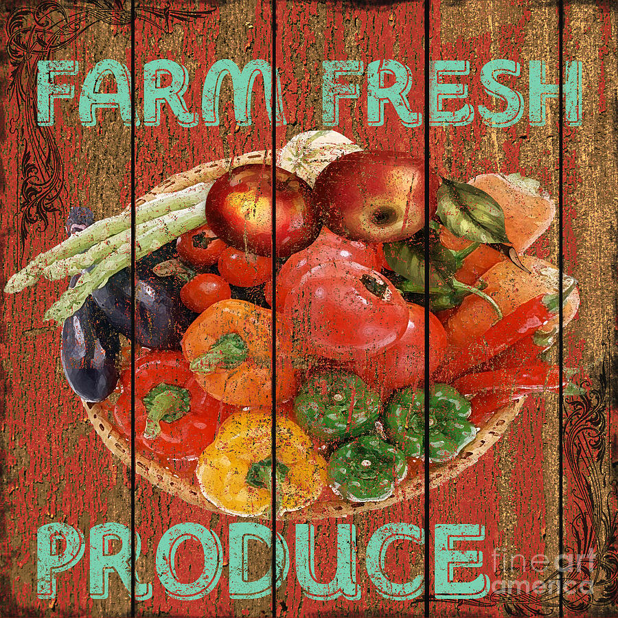 Farm Fresh Produce Mixed Media By Jean Plout
