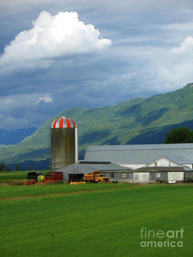 Farm Photograph - Farm In The Valley by Ann Horn