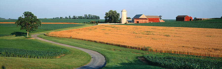 Color Image Photograph - Farm Nr Mountville Lancaster Co Pa Usa by Panoramic Images
