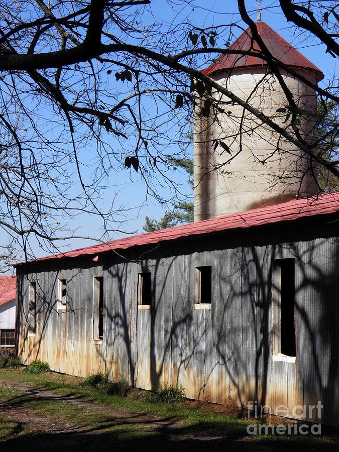 Barns Photograph - Farm Shadows by Amy Stuart Langlo