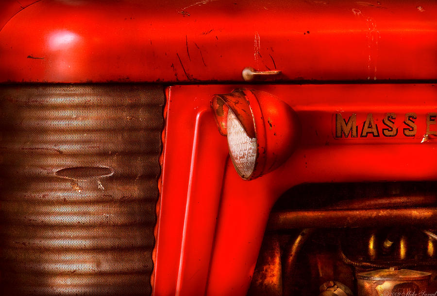 Savad Photograph - Farm - Tractor - The Tractor by Mike Savad