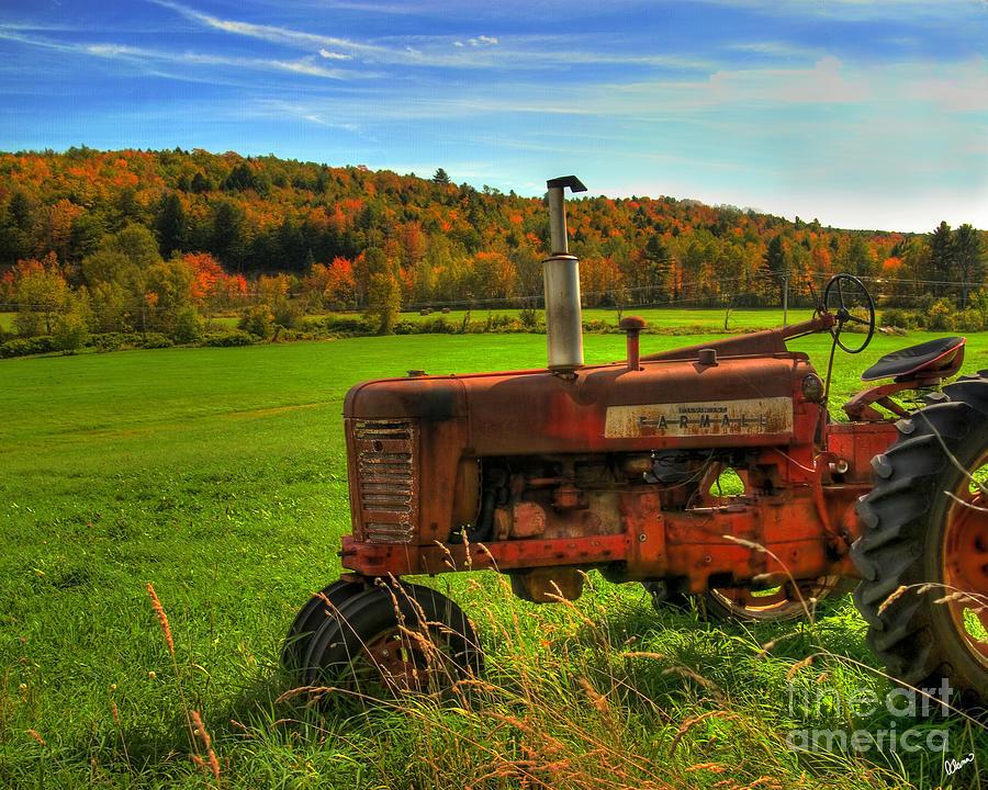 Farmall Tractor Photograph - Farmall by Alana Ranney