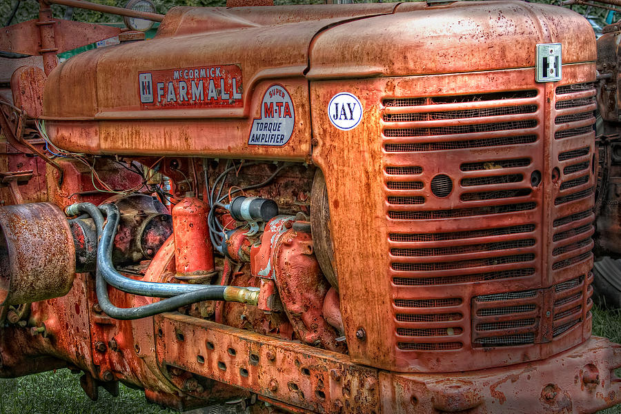 Tractor Photograph - Farmall Tractor by Bill Wakeley